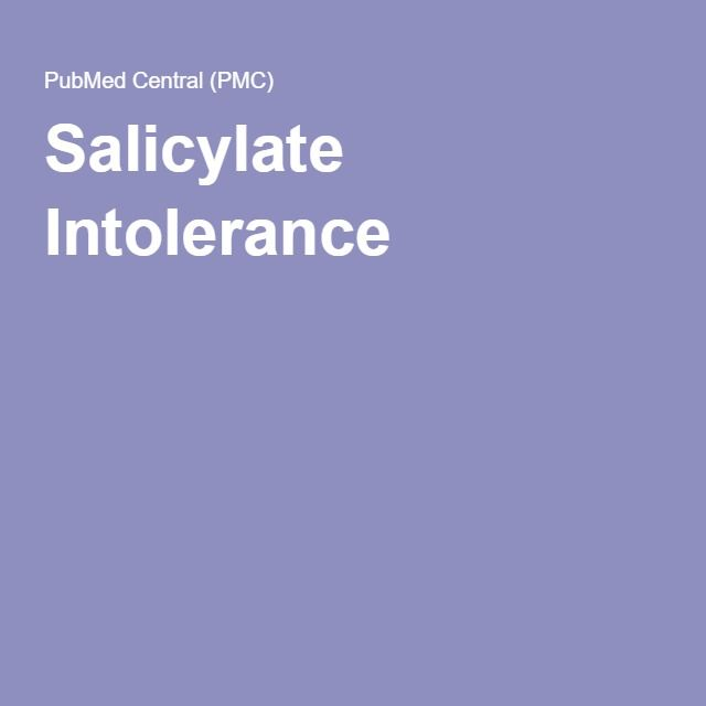 Salicylate Intolerance