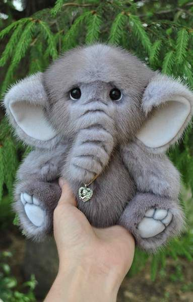 Elephant made of natural fur Mink By Logvinenko - Bear Pile