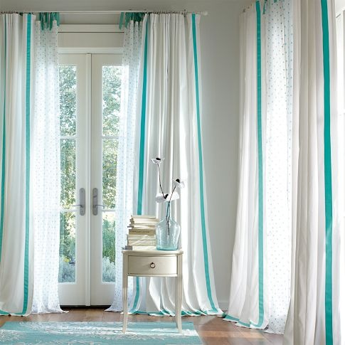 curtains.  If only I dared have white curtains with grubby little hands in the house.