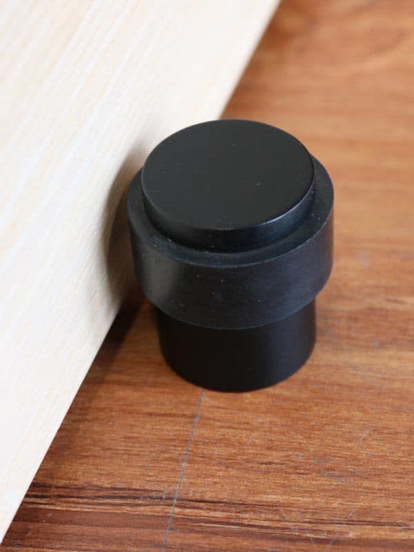 Matte Black The Lock And Handle Black Doors Black Door Handles Door Stop