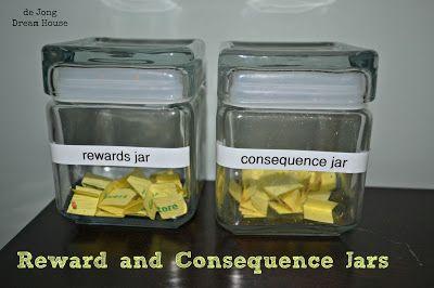 Reward and Consequence Jars - de Jong Dream House