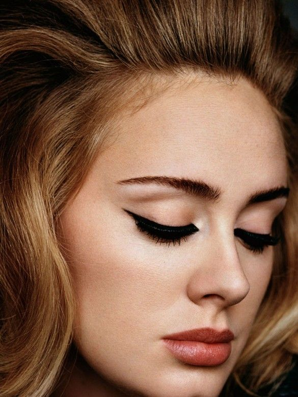 Adele wears a gorgeous cat eye for i-D