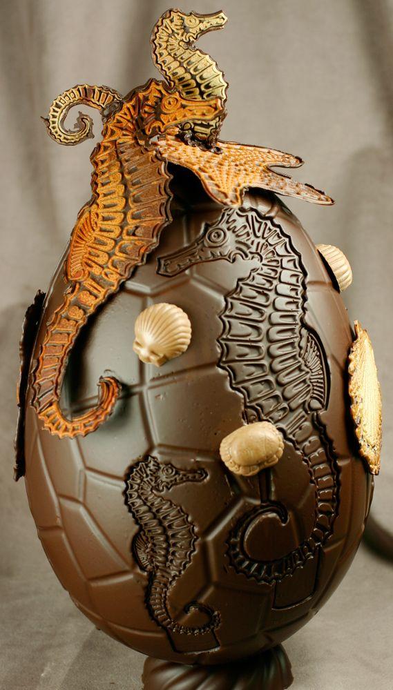 Chocolate Showpiece created by Pastry Chef Bruno Guillard.