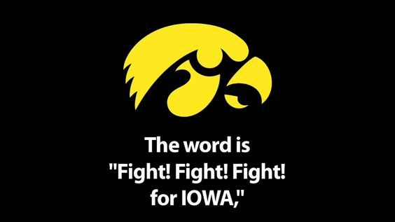 University of Iowa Fight Song: This song works great with your christmas music that is playing at home, right? #Hawkeyes #Iowa #FightSong