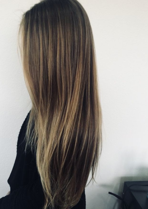 Image Result For Heavy Blonde Highlights On Top Balayage Straight Hair Brown Straight Hair Long Hair Styles