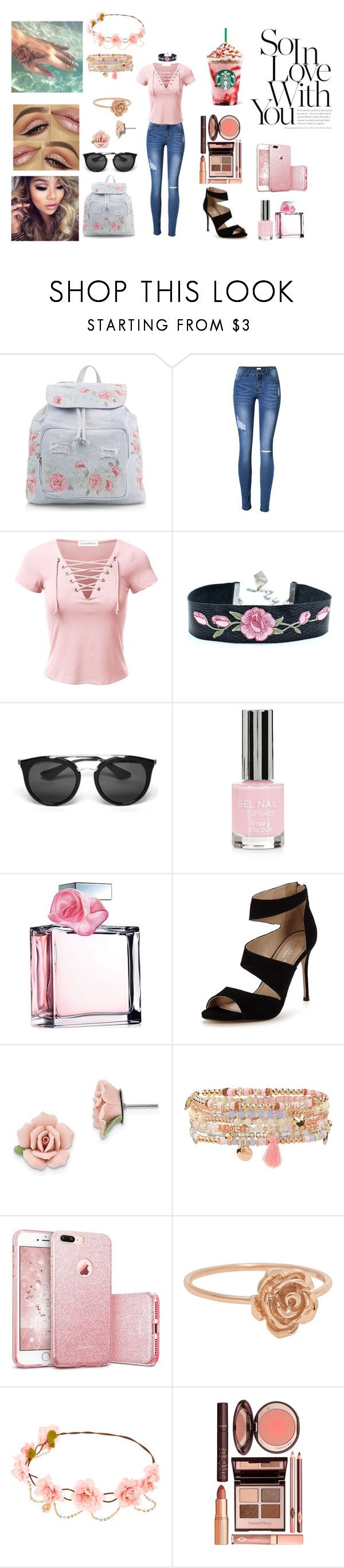 """Street beauty #10"" by streetbeautyforever ❤ liked on Polyvore featuring New Look, Prada, Topshop, Ralph Lauren, Carvela, 1928, Accessorize and Charlotte Tilbury"