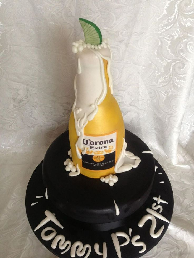 Corona beer bottle cake Cake By Kylie  Www.cakebykylie.com.au Www.facebook.com/cakebykylie