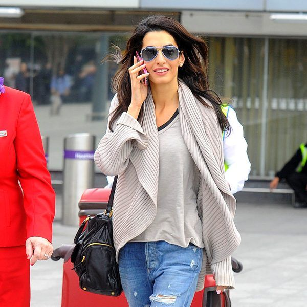 Tinted colored lenses are all the rage lately! Just check out Amal Alamuddin (a.k.a. George Clooney's fiancée) in sky blue aviators with matching lenses!