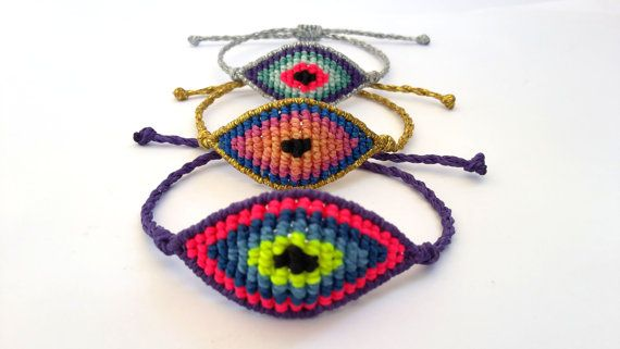 Macrame BraceletEvil Eye Macrame BraceletMicromacrame by MACRANI
