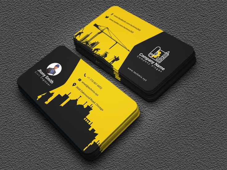 Civil engineer business card design business card design