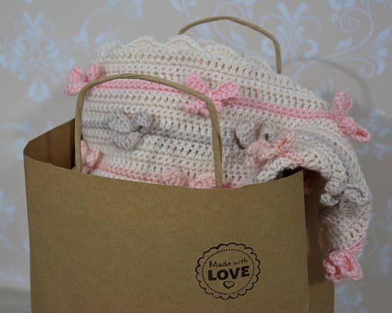handmade crochet baby blanket bow blanket crochet bow