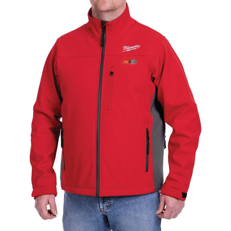 Milwaukee Extra-Large M12 12-Volt Lithium-Ion Cordless Red Heated Jacket (Jacket-Only), Size: XL