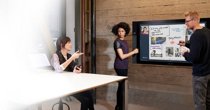 smart surfaces: Microsoft Surface Hub.