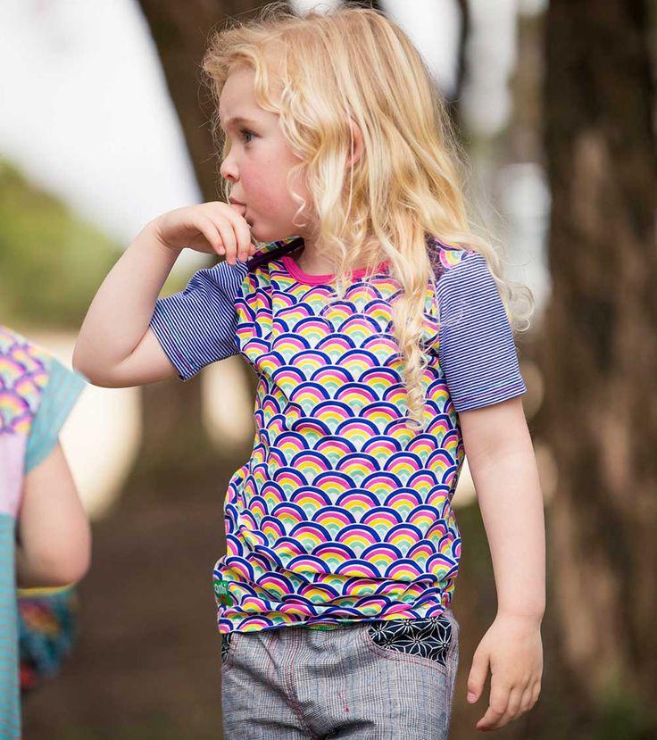 Dayglo SS T Shirt, Oishi-m Clothing for Kids, Holiday 2017, www.oishi-m.com