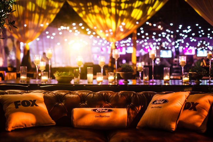 Custom logo pillows from YourPillows! dotted seating groups. Photo: Sean Twomey/2me Studios