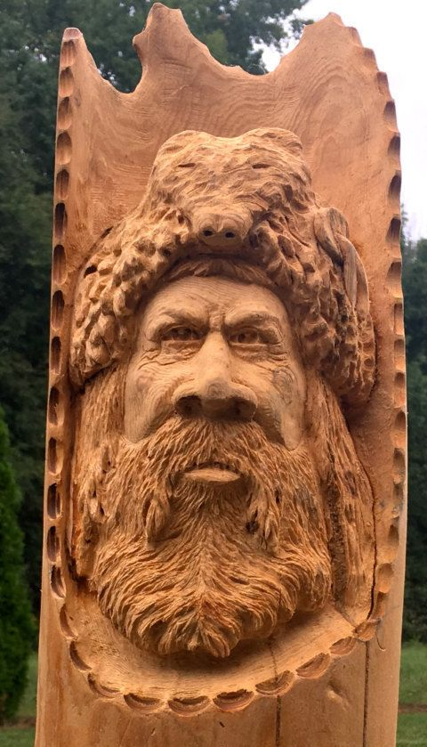 Mountain Man Wood Carving By Wildewooddecor On Etsy Wood