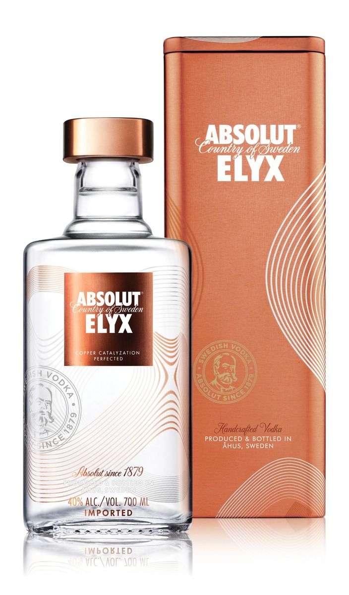 ABSOLUT ELYX is the result of manual processes and authentic craftsmanship through ever detail of production. To signify this a gift tin solution for the travel retail market was fashioned out of copper to magnify the shelf presence of this new offering and increase sales.  A slightly challenging material to work with, a considered approach was taken using screen print and a brushed copper combination to minimise abrasion marks whilst the tins were in transit.