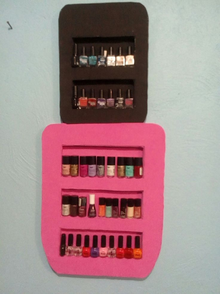 porta esmaltes de uñas