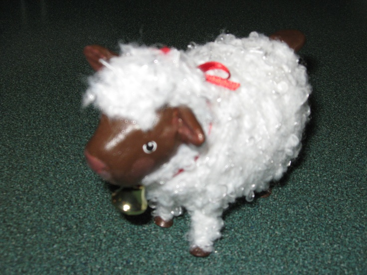 Sheep by Barb.  Made from Sculpy.