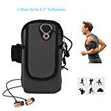 """Sports Armband Bag, ieGeek Multifunctional Pockets Workout Running Cycling Armbag for MP3 MP4 Cellphone Up to 5.7"""", iPhone 6S/6 Plus, Samsung Galaxy S7/S6 Edge, LG, HTC and More - L Black - https://www.trolleytrends.com/?p=573159"""