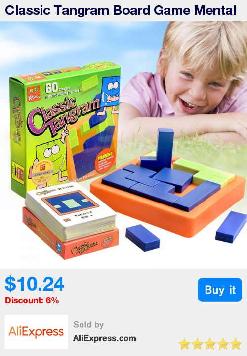 Classic Tangram Board Game Mental block Funny Puzzle Game For Children Environmental  ABS Plastic With  Free Shipping * Pub Date: 12:25 Jun 23 2017