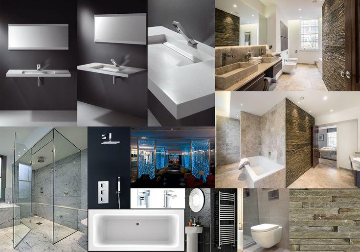 Clients master bathroom board
