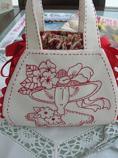 Inspiration for making a Redwork Tote Bag(Bronwyn Hayes)