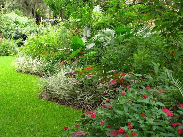 Hoe And Shovel Summer Blue Florida Garden Garden