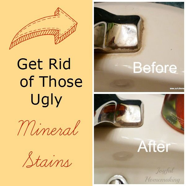 How To Remove Hard Water Stains From Bathroom Fixtures: Get Rid Of Ugly Mineral Deposits With One Ingredient