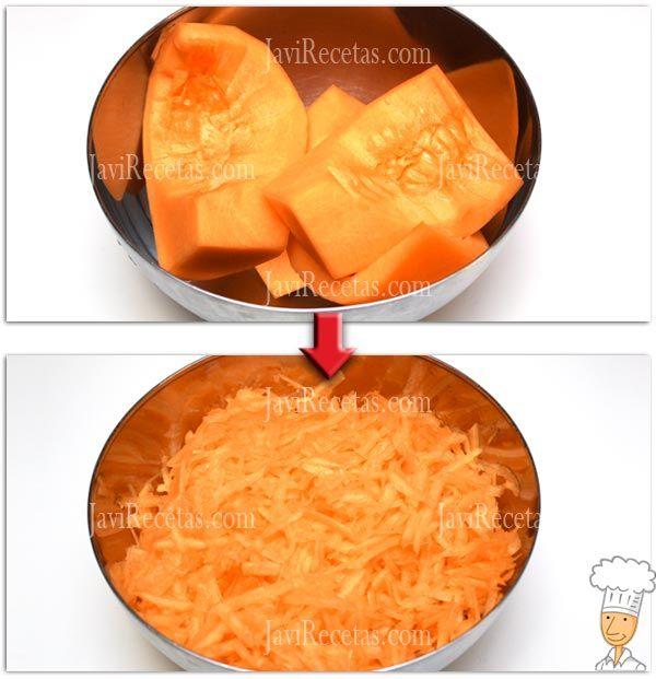 Receta pasteles calabaza y queso
