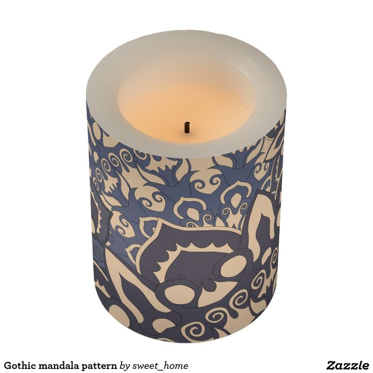 Gothic mandala pattern flameless candle http://www.zazzle.com/gothic_mandala_pattern_flameless_candle-256788798435512024?CMPN=shareicon&lang=en&social=true&view=113839463463587482