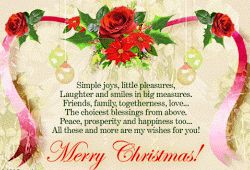 Merry Christmas Wishes for Family n Friends Photo