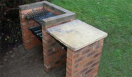 "How to build a brick barbecue - gardenersworld.com.  Could use this as the basis for a kind of ""sideboard"" near the garage that could double as a log store."
