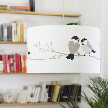 Willow Tit Bird Lampshade