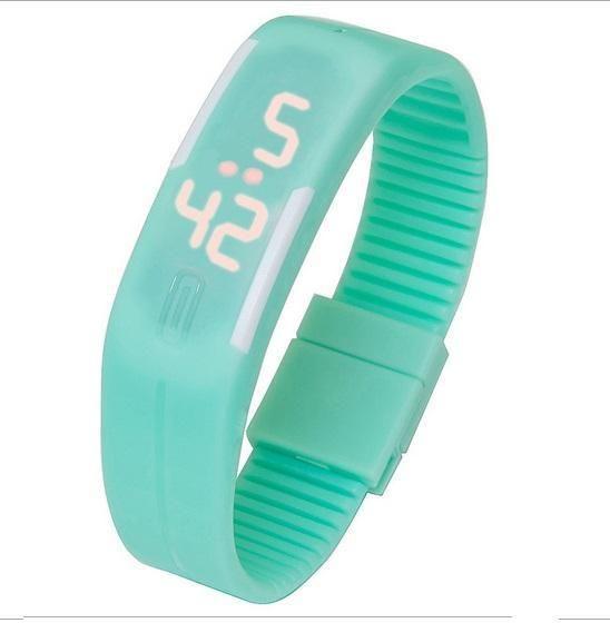 Hot Unisex Sport LED Watch Smart Look Men Wristwatch Women Fashion Watch School Girl Boys Gift White Edge A736