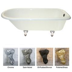 @Overstock - Revisit the stylish pages of yesteryear with this large cast-iron clawfoot tub. This retro bathtub has the classic lines of a vintage tub and features an extended gently sloping backrest to make long soaks even more luxurious and enjoyable.http://www.overstock.com/Home-Garden/Queen-Elizabeth-67-inch-Classic-Cast-Iron-Clawfoot-Tub/5524515/product.html?CID=214117 $1,059.99