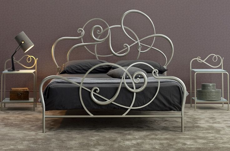 Jazz double bed - Price, Bed decorated with geometrical patterns ...