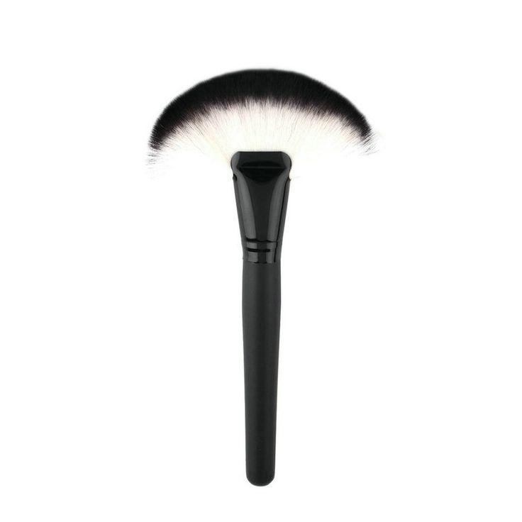 High Quality 1pc Soft Makeup Large Fan Brush Blush Powder Foundation Make Up Tool big fan Cosmetics brushes