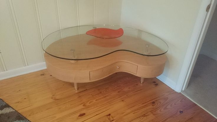 Amazing Glass kidney bean coffee table #Modern