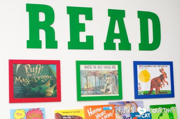 Reading Nook for ANY Kids Playroom: Read Letters from Micheals