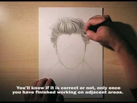 How to draw hair - The classical approach 6 - YouTube