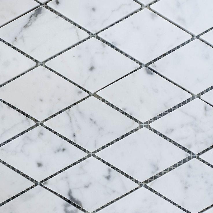 Designer Marble   Carrara Diamond Mosaic