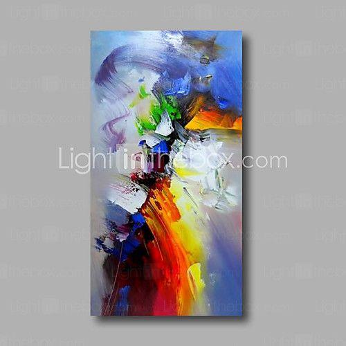 Pintados à mão Abstracto Pinturas a óleo,Modern 1 Painel Tela Hang-painted pintura a óleo For Decoração para casa de 2016 por R$191.61