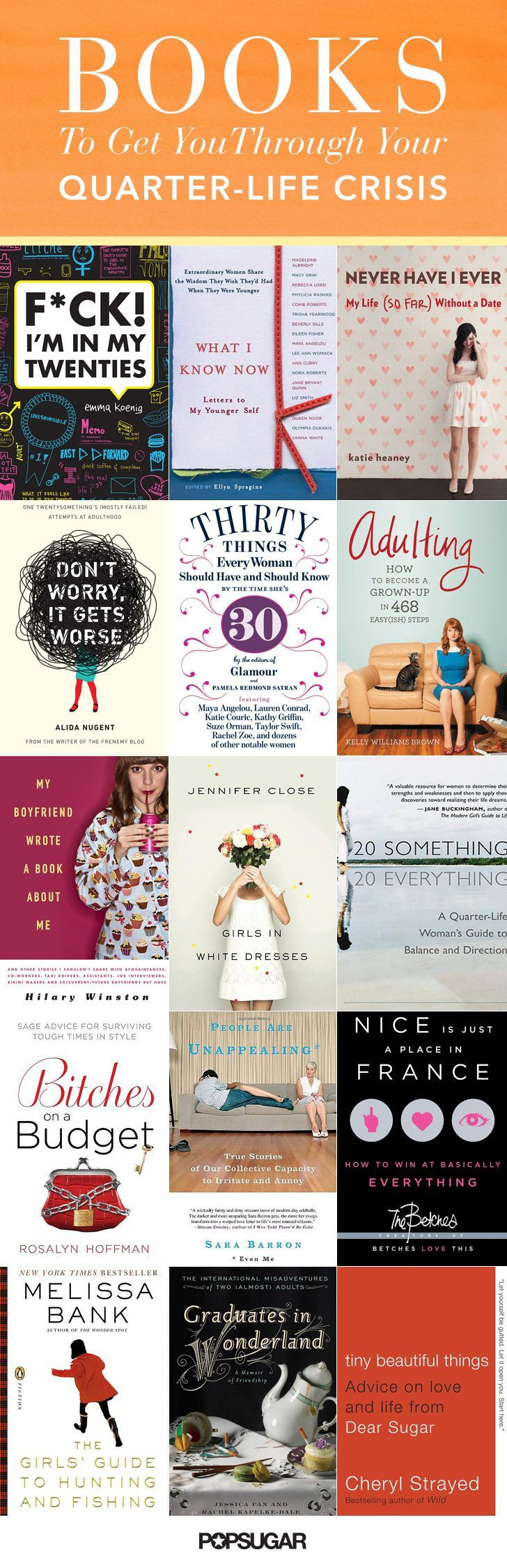 Because making it through your 20s isn't always an easy feat, here are some good reads to help you out along the way.