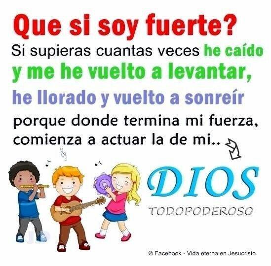 Dios es mi fortaleza!!