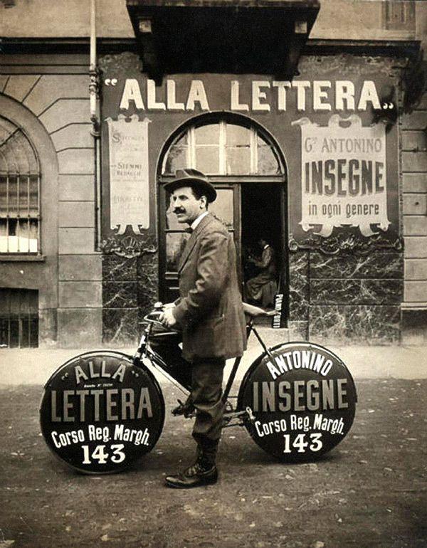 Alla Lettera - sign shop / vintage photo / via welovetypography