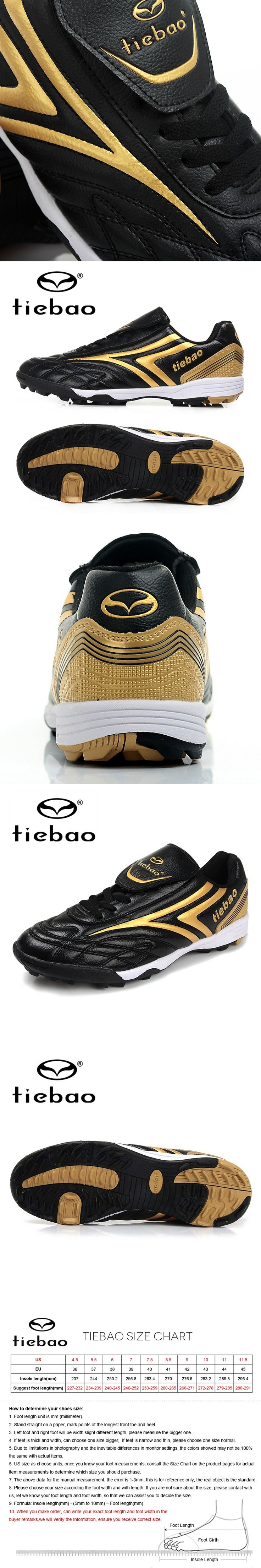 TIEBAO Professional TF Turf Soles Soccer Shoes Botas De Futbol Soccer Cleats Men Football Boots Athletic Training Sneakers