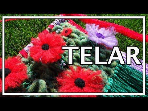 TELAR DECORATIVO FÁCIL Paso a Paso de Flores y Flecos Wall hanging Wandteppich Lana Wolle - YouTube