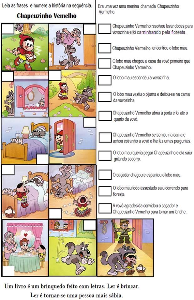 Chapeuzinho Vermelho para segundo ano. Interpretação de texto Chapeuzinho Vermelho, atividades de segundo ano para imprimir. Atividades do Pnaic.