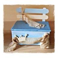 Ξύλινο Παγκάκι Βάπτισης με θέμα τοστέμμα.  #pagkaki_vaptisis #stemma #pagkaki_vaptisis_stemma